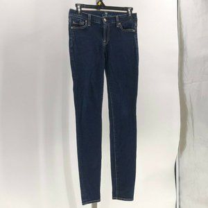 7 for all mankind the skinny jeans sz 26 dark wash